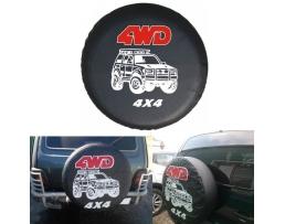 Калъф за резервна гума 15 цола с надпис 4WD 1бр.