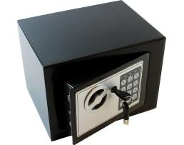 Електронен сейф за ценности, обезопасен с код и ключ AG613 1бр.