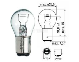 Крушка с две светлини 21/5W BA15d 12V Auto lamp 1бр.
