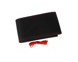 Калъф за волан Automax за шиене черен с червен конец размер М 37-39см 1бр.