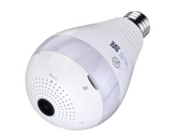 Панорамна IP камера тип крушка за наблюдение, Безжична камера , Vertex  Panoramic Camera 1бр.