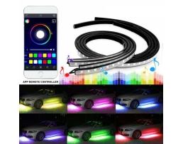 Комплект LED Лед Диодни ленти за екстериорно  / външно осветление Amio 4бр RGB многоцветни ленти с Bluetooth GSM контрол на програмите 1кт.