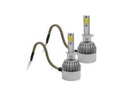 Комплект LED Лед Диодни Крушки за фар Amio C6 H1 - 36W. Над 150% по-ярка светлина. 1кт.