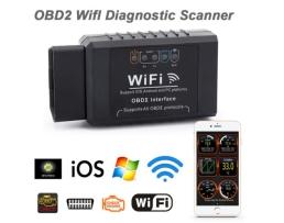 ELM327 WiFi OBD2 Диагностичен скенер за кола Поддръжка IPhone IPad Android 1бр.