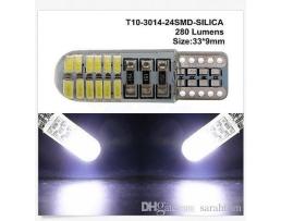 LED Светодиодни Крушки Vertex, Canbus 24 SMD 4014 T10e (W5W) SILCA, Бял, 12V 2бр.