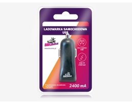 USB зарядно за кола BRUMM 2400mA НОВО 1бр.