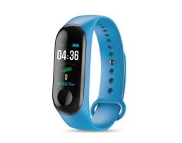 Фитнес Смарт Гривна M3 Vertex Mi Band Tracker Смарт Wristband Крачкомер , Калории, Пулсомер ,Фитнес,Bluetooth,Напомняне за повикване,Синя 1бр.