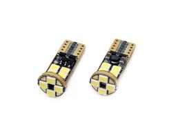 Комплект диодни Led , лед крушки за интериор,габарит,осветление номер Amio LED CANBUS 12SMD 2835 T10e (W5W) White 12V/24V 1бр.