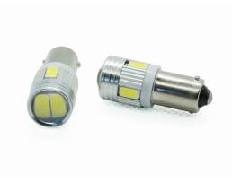 Комплект LED диодни габаритни крушки AMIO BA9S T4W 1кт.