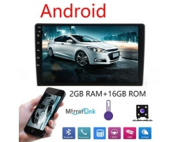 Мултимедия  Double Din Car Stereo,Android 8.1 Car Radio Stereo Audio 9 Inch Double Din, Quad-Core 16 ROM, Car GPS Navigation Head Unit,Support Bluetooth, WiFi 1бр.
