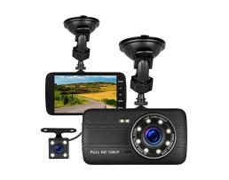Видеорегистратор Amio – HD DVR Dual Lens + камера за задно виждане 1бр.