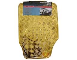 Комплект автомобилни стелки Eren, гумени никел ефект голд , Комплект 4 броя 1кт.