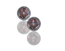 Клаксон дисков двутонен комплект 2бр Empar 123мм никел 1кт.