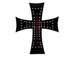 Светещ кръст AMIO 24V диоден Led за Tир ЧЕРВЕН 1бр.