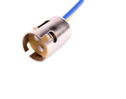 Фасунга за крушка с две светлини 21/5W BAY15D Vertex метална 1бр.