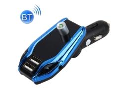 Мултифункционален X8 Plus Bluetooth , USB зарядно , FM аудио предавател ,MP3 плейър, Handsfree Blue