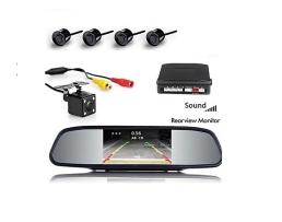 Парктроник с четири сензора  , камера за подпомагане паркирането , огледало с монитор Zappin W-1;   40298; 6817 1бр.