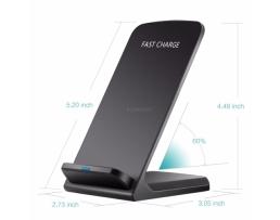 Стойка, поставка, държач безжично зарядно за телефони 10W Fast Wireless Charger R2 Q800  с функция  QI Fast Wireless Chargr 1бр.