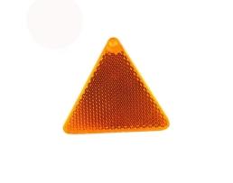 Светлоотразител триъгълен жълт монтаж с лепенка 1бр.
