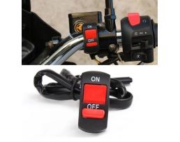 Превключвател включване / изключване на халогенни , лед фарове за мотоциклети,скутери 1бр.