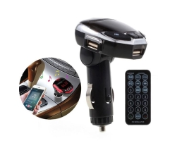 FM Трансмитер Iron Man с двойно USB, MP3 плеър FM, Bluetooth, черен 1бр.