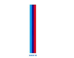 Винилови Стикери за кола Vertex Препоръчани за BMW M3 M5 M6 E46 E92,-BMW MPower 1бр.