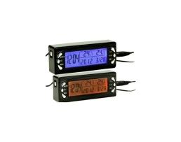 Термометър за кола с Часовник, за вътрешна и външна температура, Carcommerce 2 в 1 Черен 1бр.