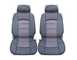 Комплект Универсална Тапицерия Тип Масожор Car Line 1+1 2броя за предни седалки универсални тъмно сиво+сиво,текстил 1кт.