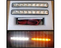 Комплект LED Диодни Дневни светлини  Automax 16 SMD светодиода с мигач 1кт.