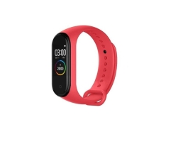 Фитнес Смарт Гривна M4 Amio Mi Band Tracker Смарт Wristband Крачкомер , Калории, Пулсомер ,Фитнес,Bluetooth,Напомняне за повикване,Червена 1бр.
