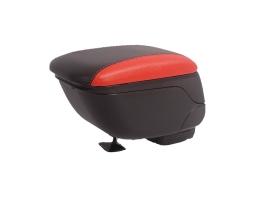 Универсална черна + червена конзола ,Подлакътник с плъзгаща опора, Кожена кутия за съхранение в автомобила 1бр.