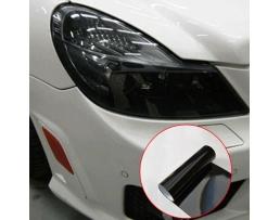 Протекторно фолио за фарове и стопове 40см - Прозрачно черно гланц 1м.