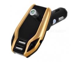 FM Трансмитер  X8 Plus Automax Мултифункционален , Bluetooth , USB зарядно , FM аудио предавател ,MP3 плейър, Handsfree Gold 1бр.