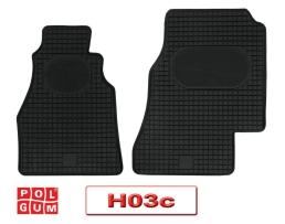 Автомобилни стелки PolGum гумени комплект  MERCEDES Sprinter -->2006, VW LT 19962006 Модел-H03c 1кт.
