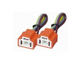Букса с кабел за автомобилна крушка  Н4 права и ъглова 1бр.