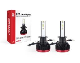 Комплект LED Лед Диодни Крушки за фар Amio H1 BF Mini - 50W. 6200 Lm + 200% по-ярка светлина 1кт.