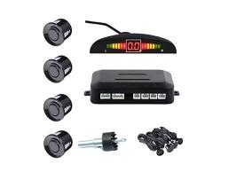 Парктроник AMIO Parking sensor комплект с четири ултразвукови черни сензора и малък компактен дисплей 1кт.