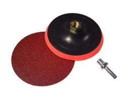 Държач , диск с адаптер 125мм Pollux за закрепване на филцовдиск , гъба за полиране при полиране на различни повърхности 1бр.