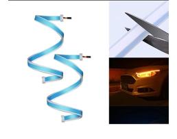 LED Диодни Дневни светлини RXZ Vertex DRL+Turn light  Car Light с функция бягащ мигач-60см 1кт.