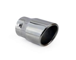 Накрайник за ауспух AMIO MT 007ВС , Eдиничен ,покритие графитен мат хромникел. 1бр.