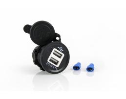 Зарядно за кола с 2 USB 12-24V Amio захранващо устройство за вграждане  01434 1бр.