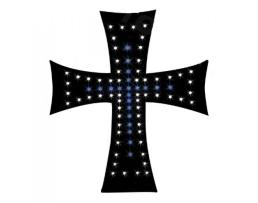 Светещ кръст AMIO 24V диоден Led за Tир СИН 1бр.
