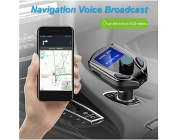 FM Трансмитер , Хендсфри за кола BT X8 с Волтметър Vertex Car Kit, Wireless, Bluetooth, TF, MP3 Player, Handsfree, Черен 1бр.