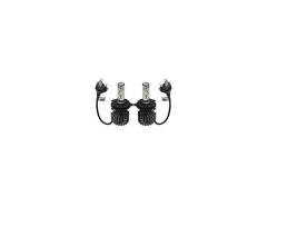 Комплект LED Лед Диодни Крушки за фар R9 Mini Amio H4 H/L  50W - 10800Lm 6000K Cool White Над 200% по-ярка светлина. 1кт.