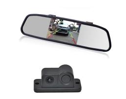 Система за паркиране Zappin огледало с монитор , камера за заден ход , паркинг сензор  и зумер 1кт.
