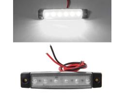 Маркер габарит 6 LED 12/24 V - БЯЛ 1бр.