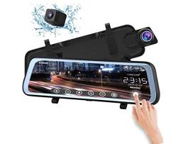 Система за паркиране AMIO предна DVR камера+камера подпомагаща паркирането вградени в огледалото за обратно виждане с 9,66 инчов монитор 1бр.