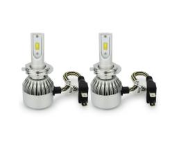 Комплект LED Лед Диодни Крушки за фар Amio 2бр С6 H7 - 36W , Над 150% по-ярка светлина + подарък габаритни диодни крушки 1кт.