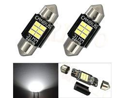 Комплект диодни Led , лед крушки за интериор,осветление номер Amio Canbus Festoon C5W 6xSMD Philips 3020 Chipset  12V 31mm 1кт.