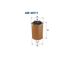 Въздушен филтър за Mercedes MB (631); MA576, Mann+Hummel C 15 127/2, WIX-Filtron AM 407/1, Fiaam FLI 6877, WA30-280, WFP-296.12 1бр.